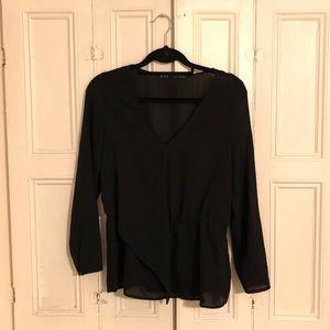Black blouse from Zara